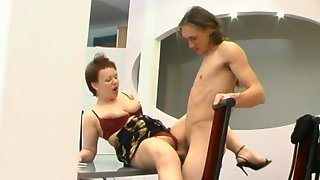 Spicy mature gal ready for everything to feel again young cock in her muff
