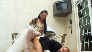 Hot shemale wife feels like cramming her husband�s ass in various positions