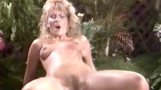 Licking blonde muff