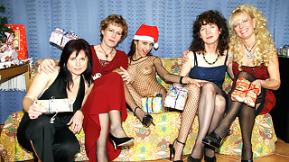 A very naughty old and young lesbian Christmas