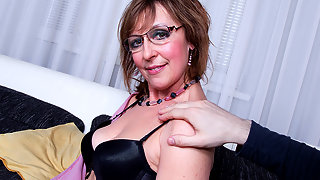 Horny housewife fucking and sucking in POV style