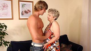 Granny gets a hot young man