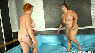 Fat girls wrestling & fucking