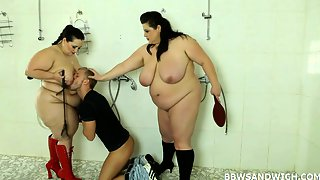 BBW threesome sex