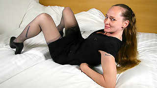 Horny Dutch housewife getting wet and wild
