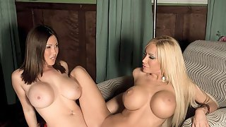 Kianna And Lexxis Busty Lesbian Session