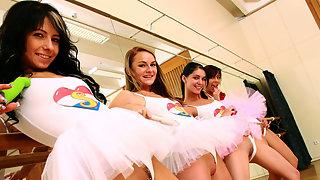 Hot ballet class