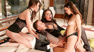 Roccos Orgy With Three Psycho Teens