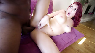 Redhead Ivys Interracial Anal Reaming