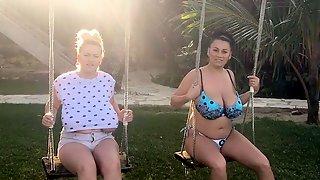 Erin & Helen Stars Swinging Island Diary