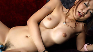 Asian girl with vibrators