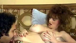 Vintage porn star in action