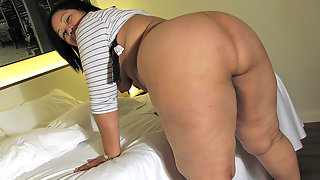 This big booty mama knows how to please herself